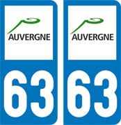 sticker 63 - Puy-de-Dôme